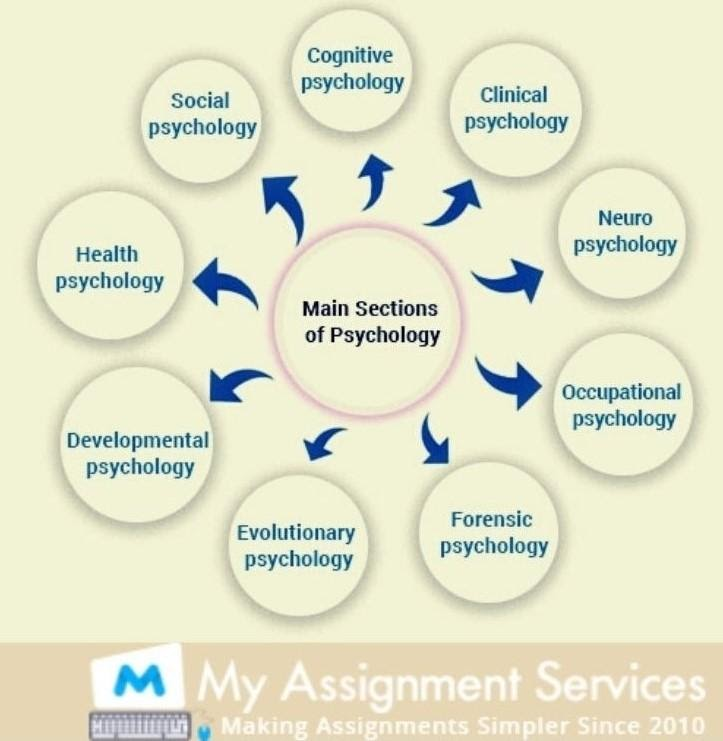 main sections of psychology