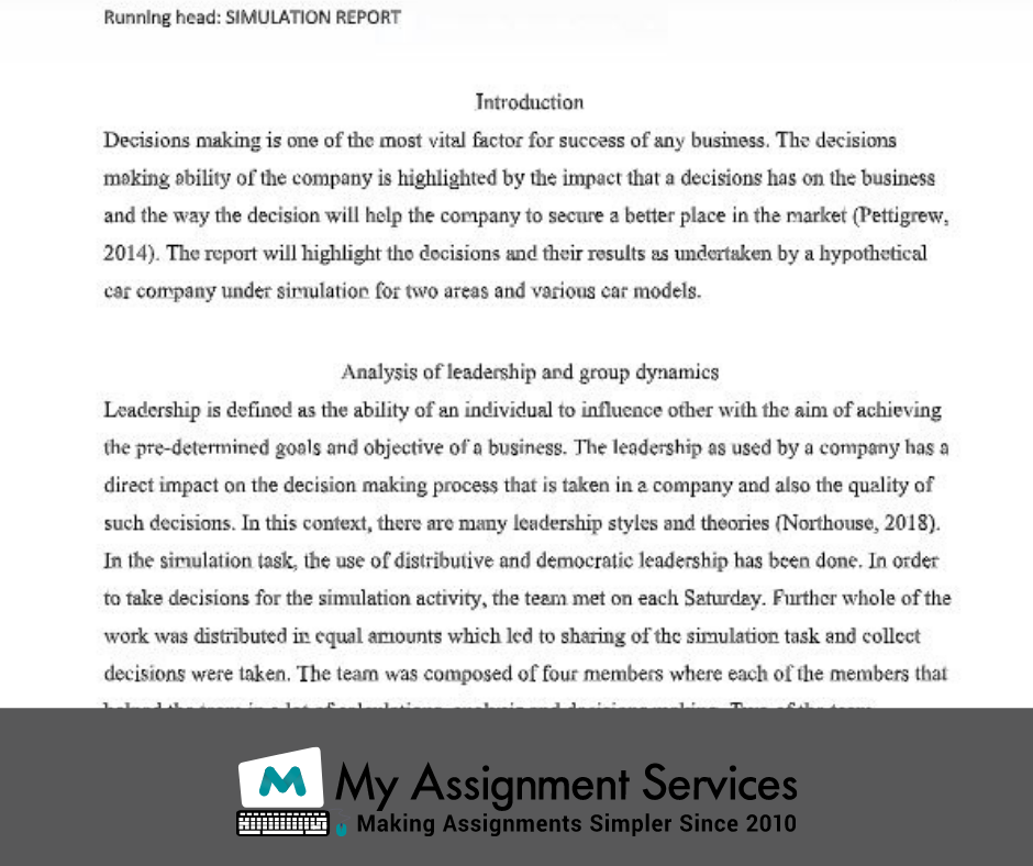mba dissertation assessment answer sample