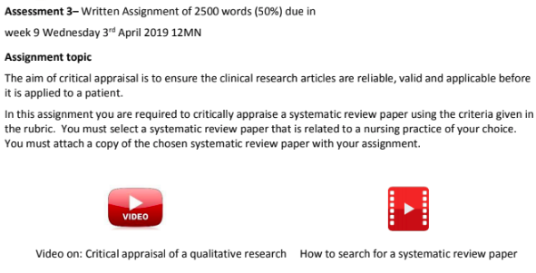 nursing essay assessment sample 3