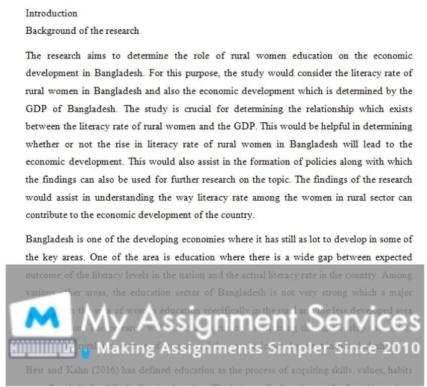 politics dissertation assessment sample 3